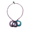 Vegetable Ivory Necklace in Purple and Blue Tones