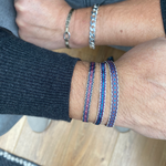 SET OF THREE BRACELETS IN BLUE TONES FOR HIM
