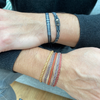 SET OF TWO HANDWOVEN BRACELETS IN BLUE TONES FOR HIM