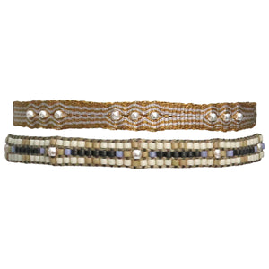 SET OF TWO HANDWOVEN BRACELETS WITH SILVER DETAILS FOR HIM