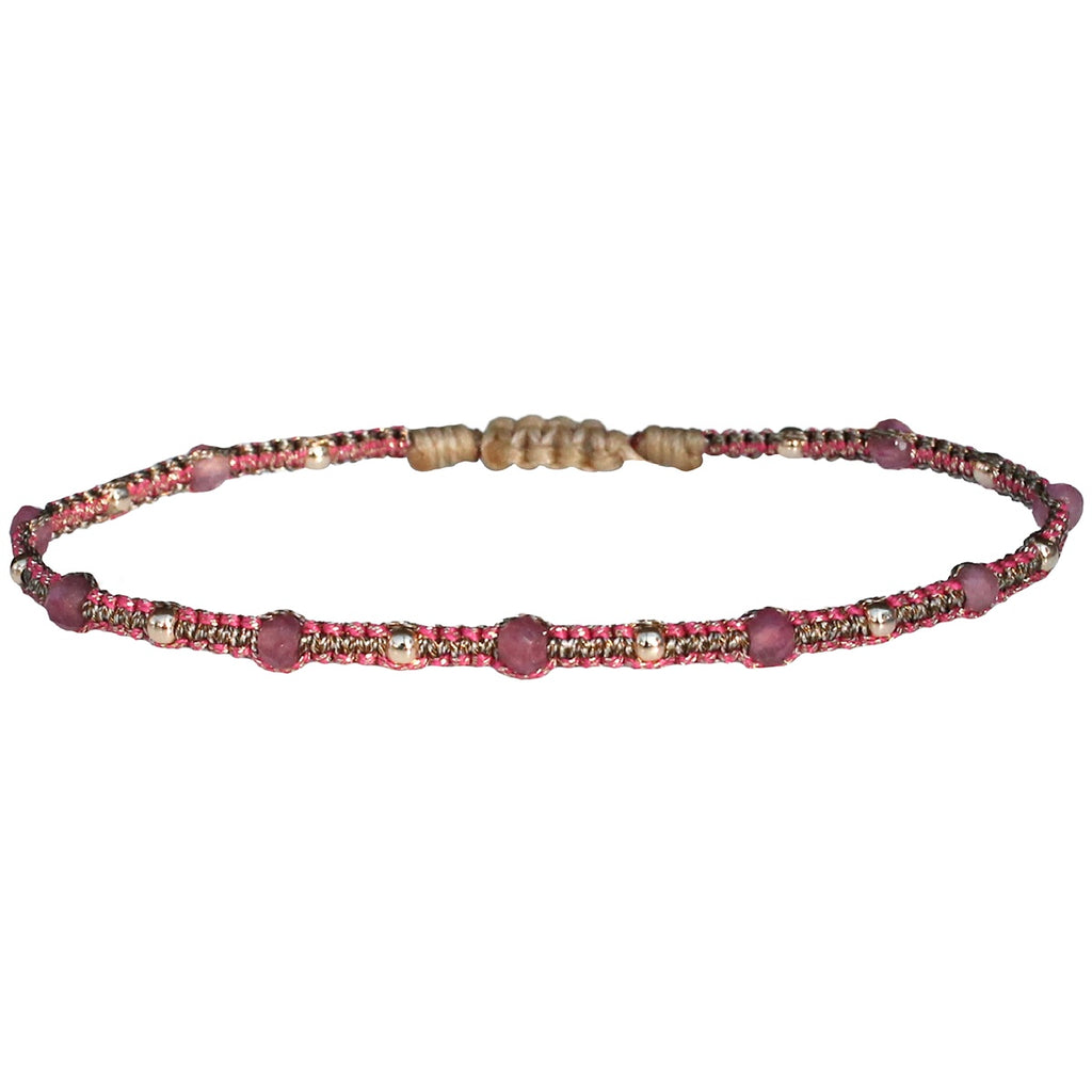 STONE SAND BRACELET IN PINK AND GOLD