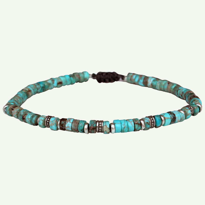 TURQUOISE & SILVER BRACELET FOR HIM
