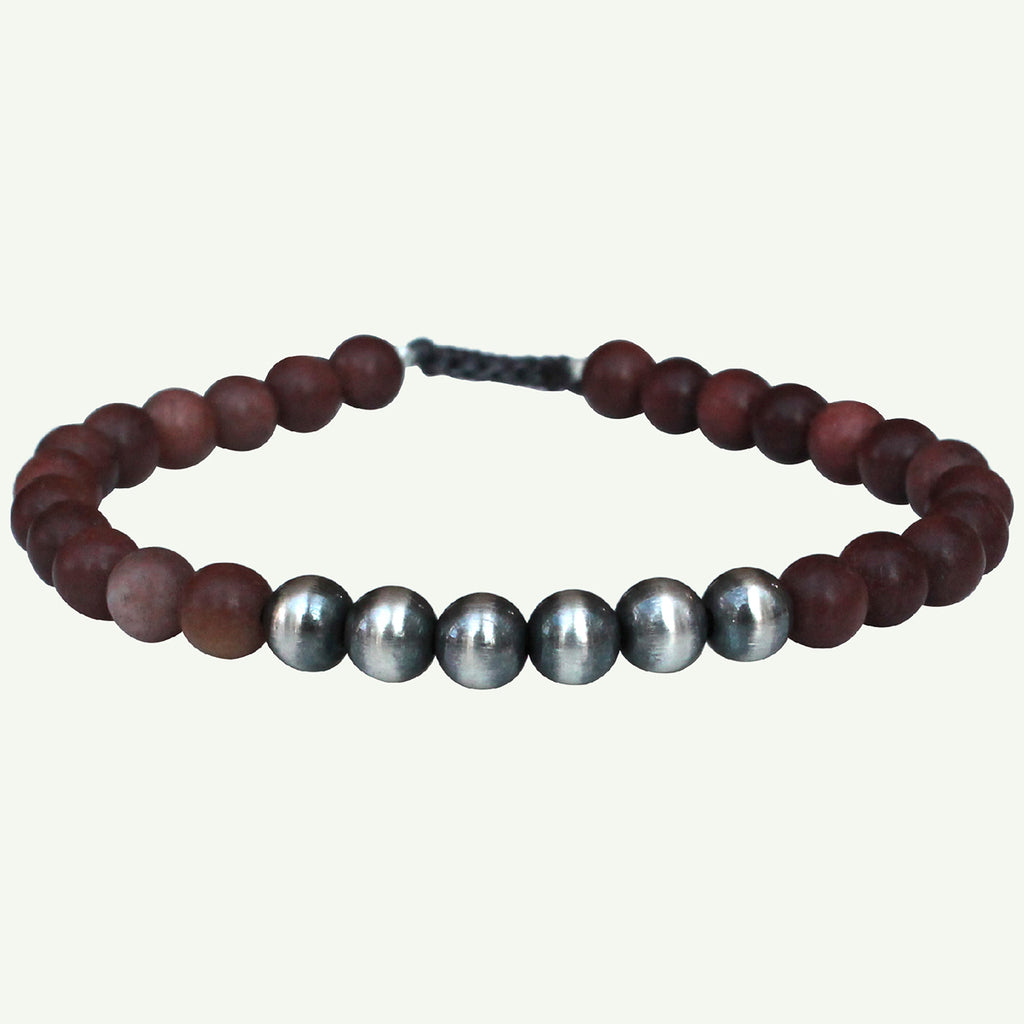 RHODOLITE STONES BRACELET FOR HIM