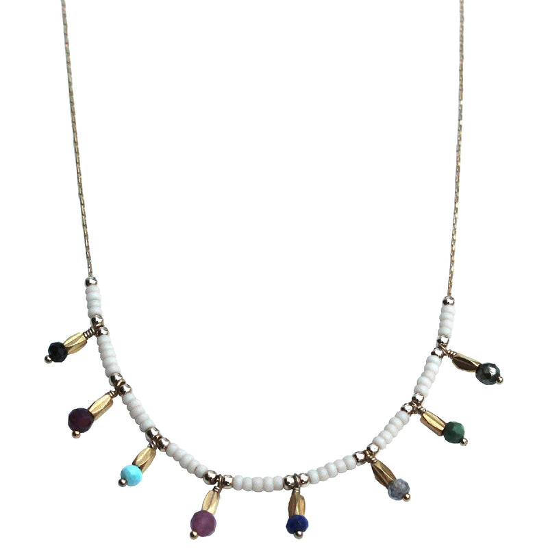 LITTLE  COLOURFUL CHARMS  NECKLACE IN GOLD