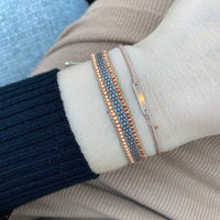 BT BRACELET IN BEIGE AND COPPER TONES