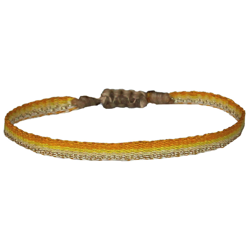 KIDS BRACELET IN BRIGHT YELLOW & GOLD TONES