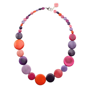 Vegetable Ivory Necklace in Pink Tones