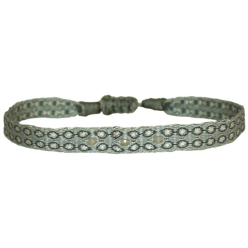 HANDWOVEN BRACELET IN GREY TONES