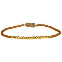 SINGLE HANDWOVEN BRACELET IN MUSTARD & GOLD