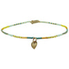 HEART ANKLET IN BRIGHT TONES