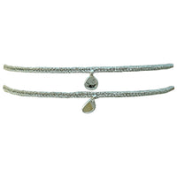 SET OF TWO DIAMOND BRACELETS IN SILVER