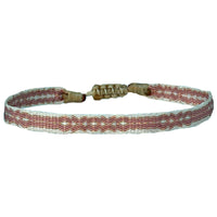 BASIC HANDWOVEN BRACELET IN BEIGE TONES AND ROSE GOLD