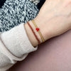 TRENZA BRACELET IN RED & GOLD