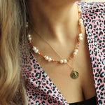Hanauma Gold Chain and Pearls Necklace