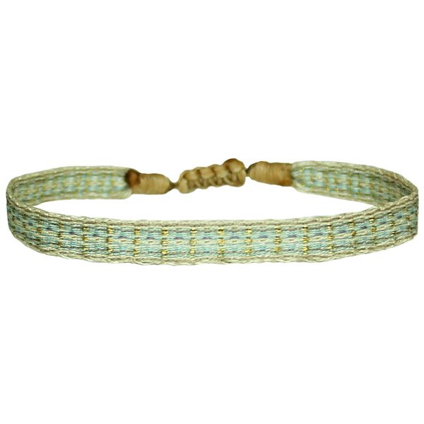 BASIC HANDMADE BRACELET IN PASTEL BLUE AND BEIGE