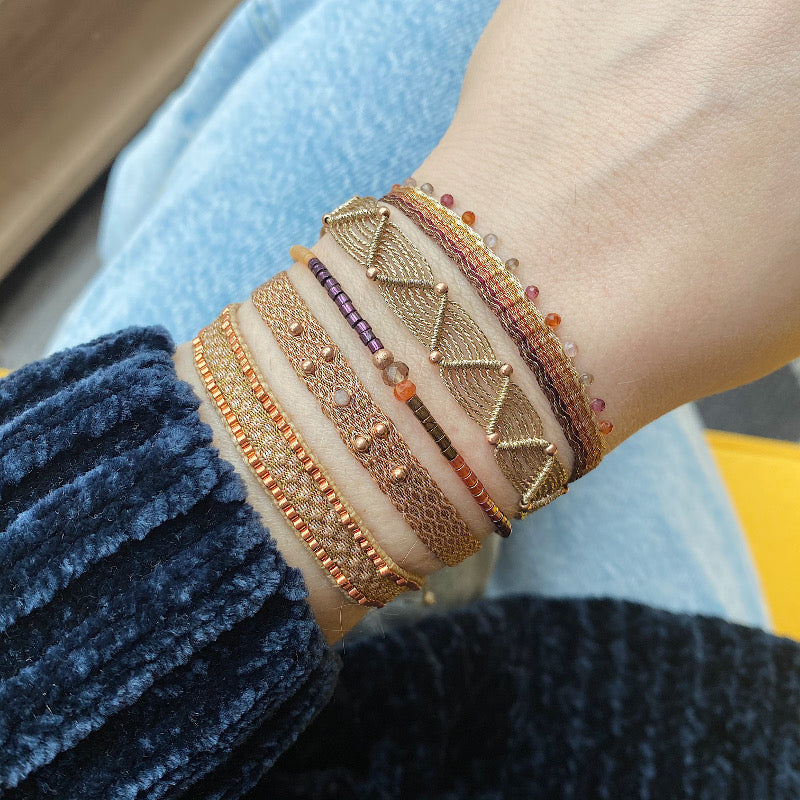 CHIC BRACELET IN TERRACOTTA TONES