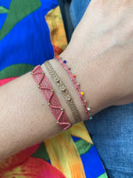 COLORS BRACELET IN PINK AND BEIGE TONES