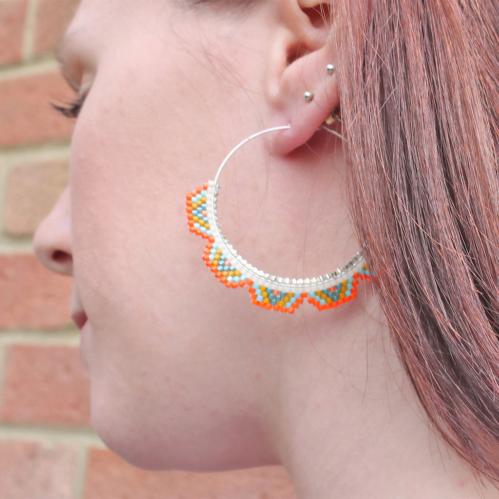 MULTICOLOR HOOP EARRINGS