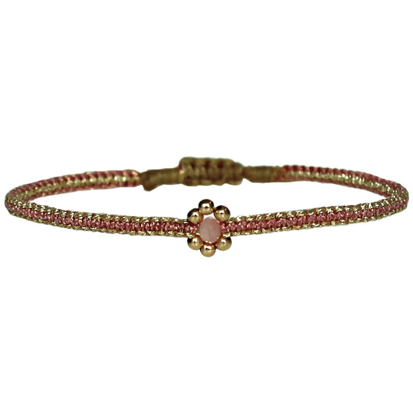 HANDMADE  KIDS FLOWER BRACELET IN PINK