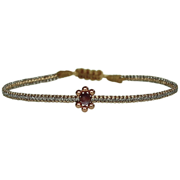 HANDMADE KIDS FLOWER BRACELET IN ROSE GOLD