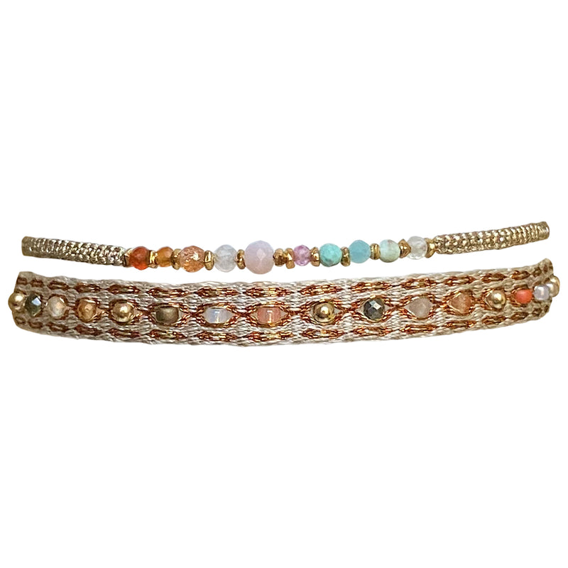 BLACK AND GOLD BRACELET SET