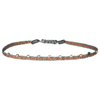 STONE BRACELET IN COPPPER AND ROSE GOLD TONES