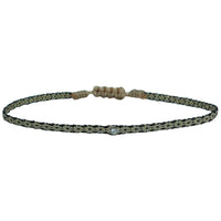 HANDWOVEN GREY DIAMOND BRACELET IN DARK TONES