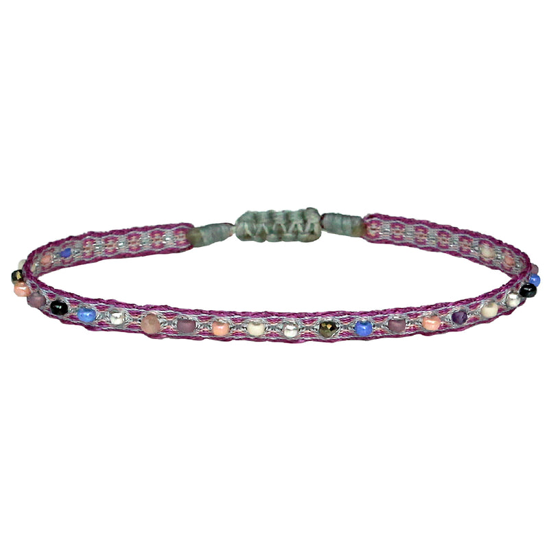 HANDMADE COLOURFUL BRACELET IN PURPLE TONES