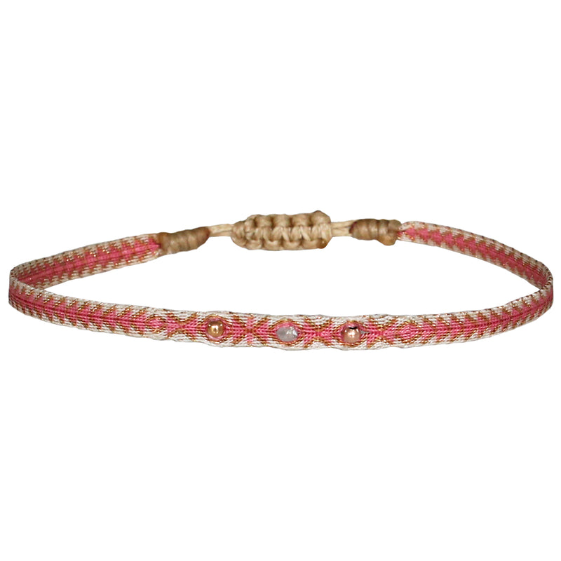 GREY DIAMOND BRACELET IN PINK & BEIGE TONES