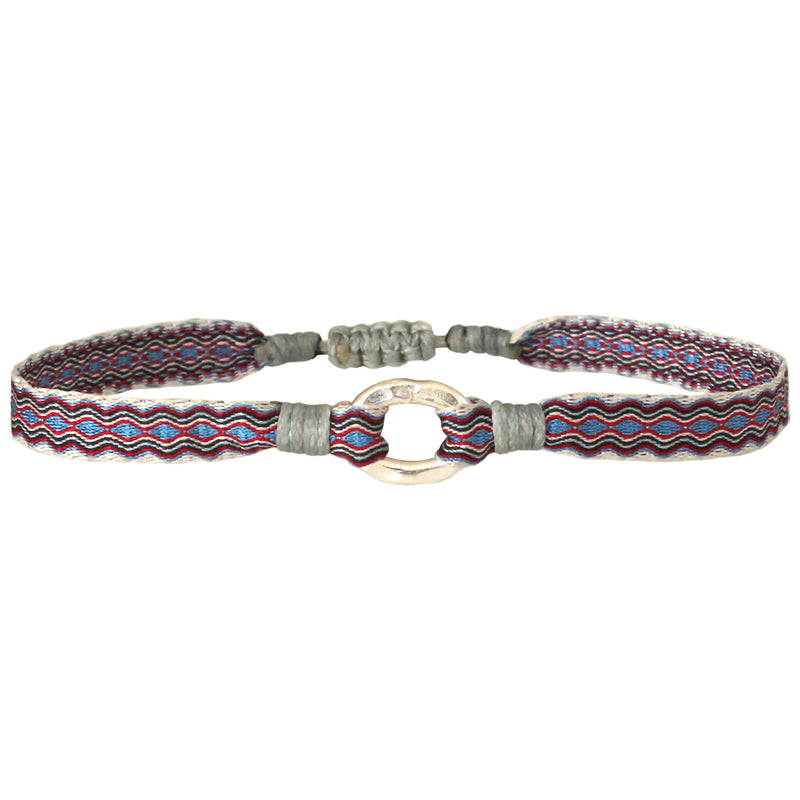 ARO BRACELET FOR HIM IN RED AND BLUE TONES