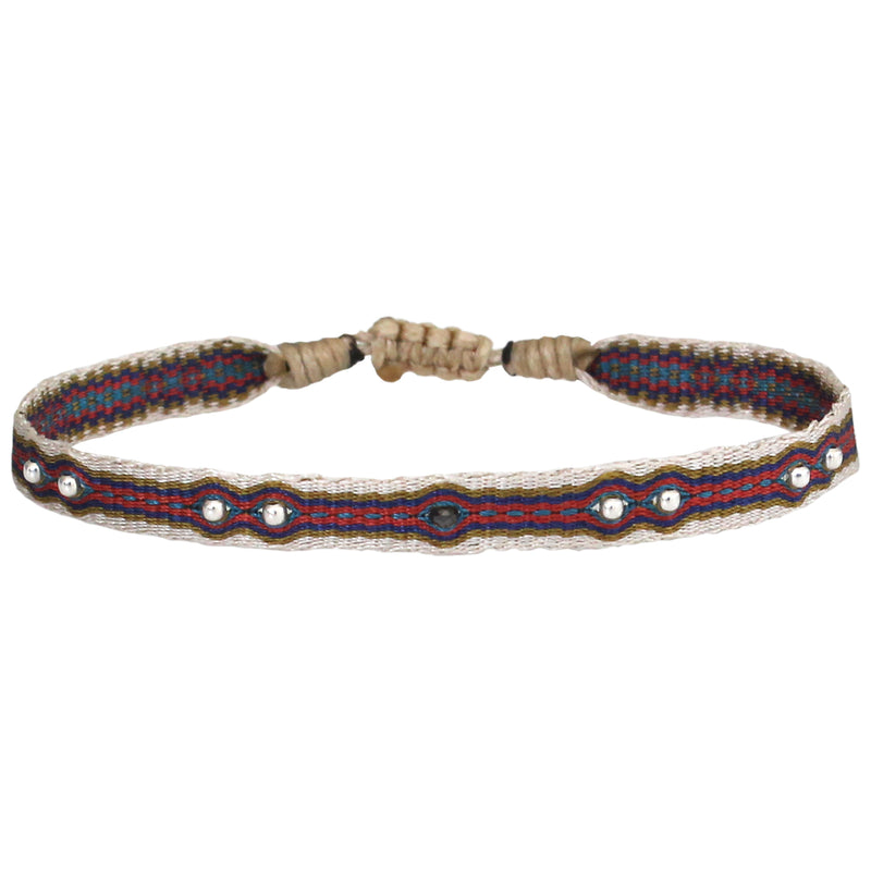 BLACK DIAMOND BRACELET FOR HIM IN RED TONES