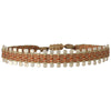 HANDWOVEN PIN BRACELET IN COPPER TONES FOR HIM