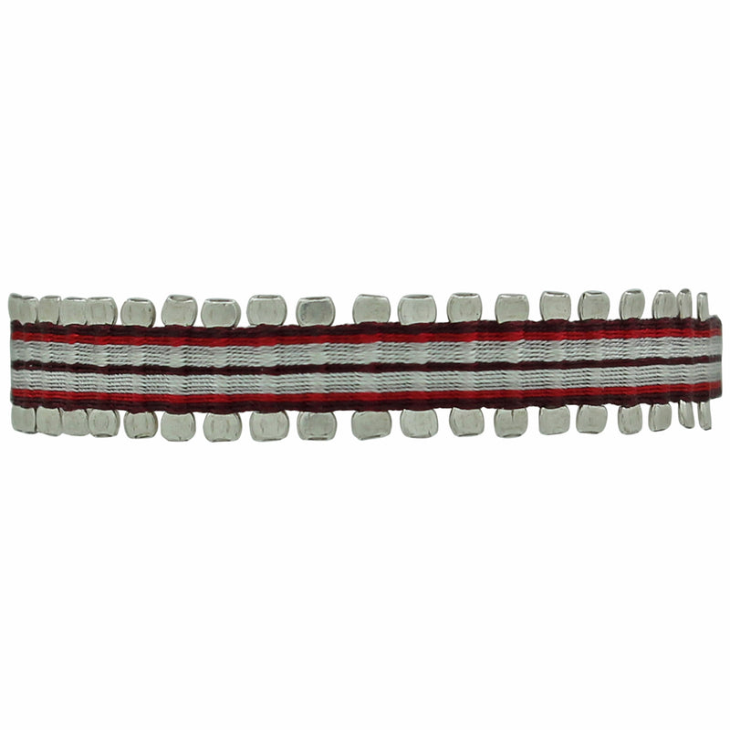 HANDWOVEN PIN BRACELET IN RED TONES FOR HIM