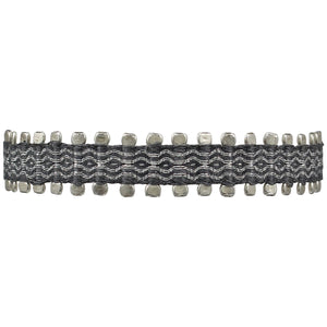 HANDWOVEN BRACELET IN GREY AND SILVER FOR HIM
