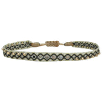MAJESTIC HANDWOVEN BRACELET IN GOLD AND BLACK TONES