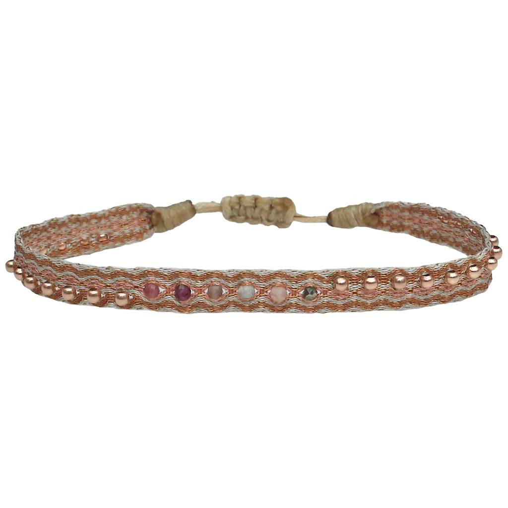 MAJESTIC HANDWOVEN BRACELET IN ROSE GOLD AND COPPER TONES