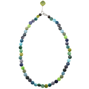 Statement Strand Necklace in Green and Blue Tones
