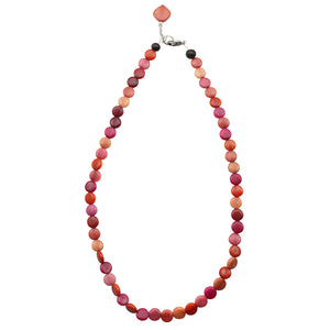 Statement Strand Necklace in Pink and Purple  Tones