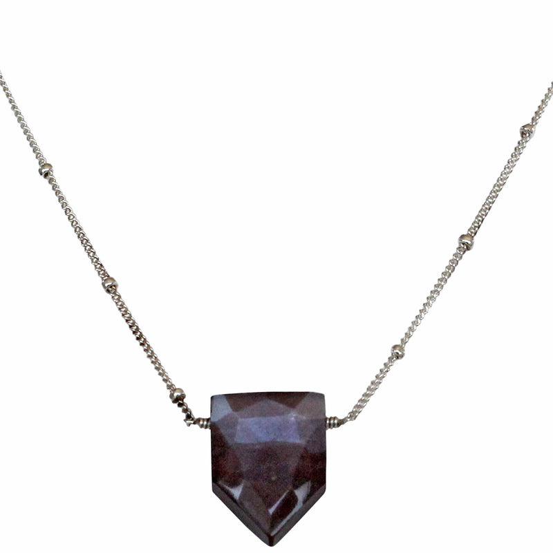MOONSTONE PENTAGON NECKLACE