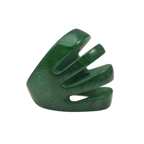 Sydney Statement Vegetable Ivory Ring Green