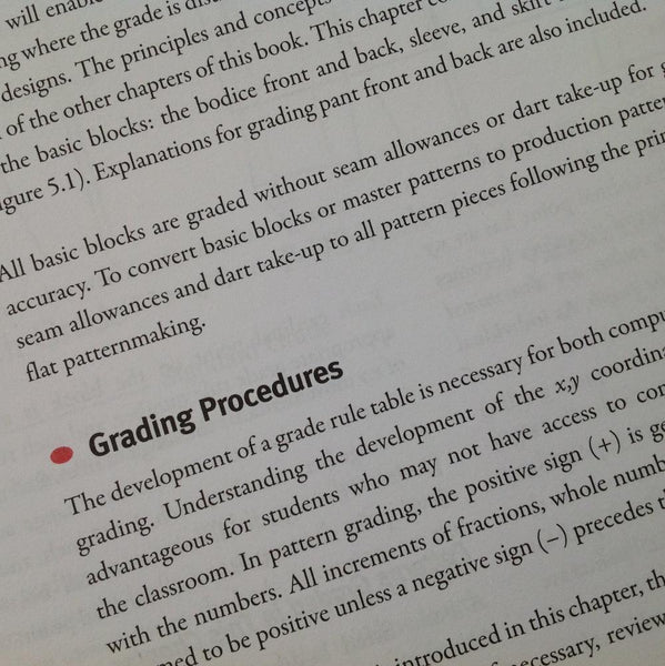 Book Review Concepts Of Pattern Grading Charlotte Kan