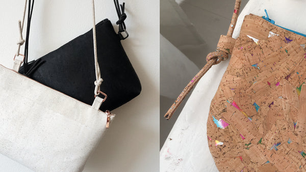 How to sew a bag with cork leather / cork fabric
