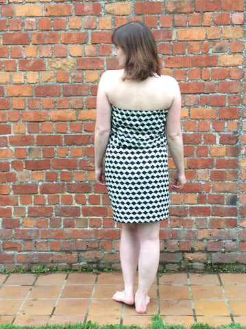 Strapless summer dress sewing pattern
