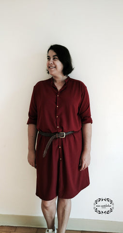 PDF sewing pattern shirt dress for women - easy to sew