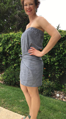 strapless summer dress PDF Sewing pattern