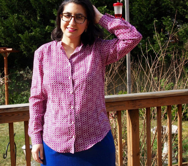 PDF sewing pattern shirt for women - easye to sew