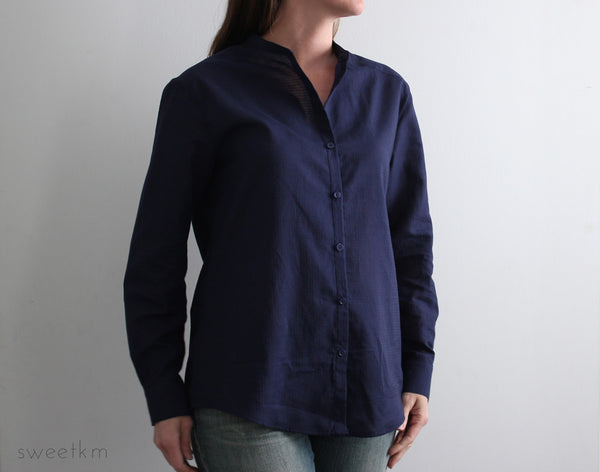 PDF sewing pattern minimalist shirt for women