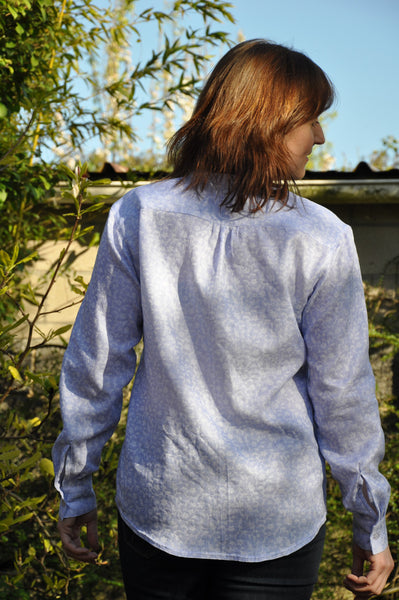minimalist PDF sewing pattern shirt for women - easy to sew