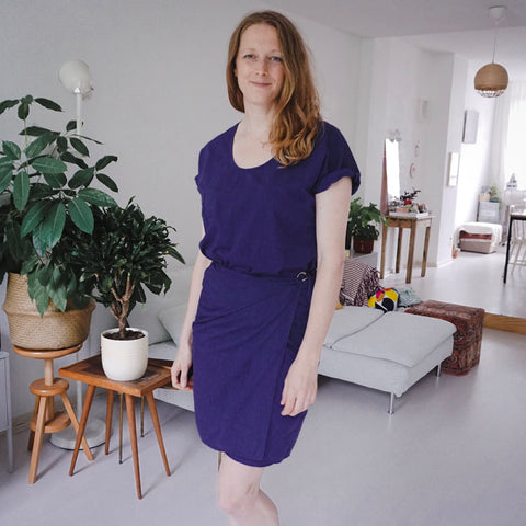 Tie dress PDF sewing pattern hack and alterations