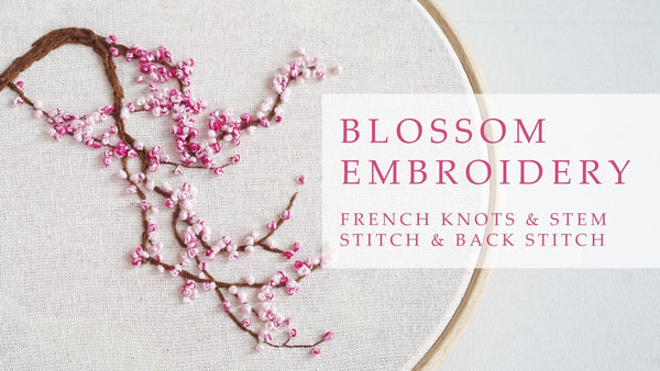 hand embroidery class cherry blossom embroidery